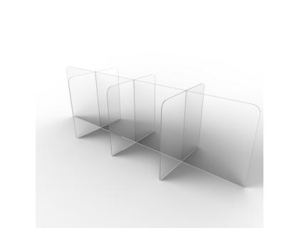Table with Divider Wall Countertop Sneeze Guard Counter Screen Clear Acrylic Office Desk Divider